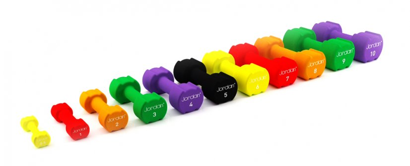 0.5kg Studio Neoprene Dumbells Pair (Yellow)